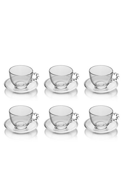 EWs 6 Lı Gırona Cam Çay Fincan Takımı