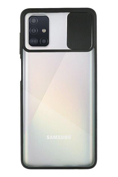 KZY İletişim Samsung Galaxy A71 Uyumlu Kapak Lensi Açılır Kapanır Kamera Korumalı Silikon Kılıf