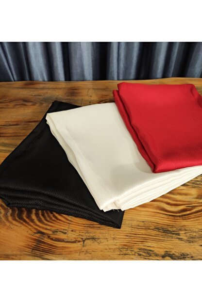 Çeyizci Masa Örtüsü Leke Tutmaz Kumaş Tek 160x220cm Kırmızı