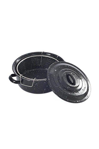 Essen Siyah Kapaklı Emaye 25cm Cips Fritöz Kızartma Tenceresi 2019st000000306