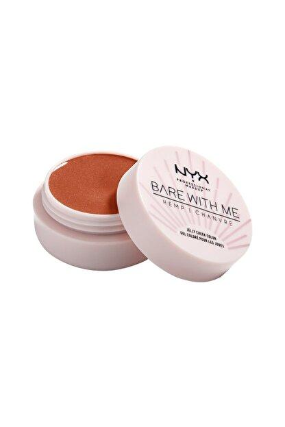 NYX Professional Makeup Işıltılı Allık - Bare With Me Jelly Cheek Color 03 Sızzlıng Sun