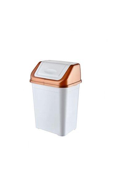 Bursev Beyaz Bakır Mutfak Çöp Kovası 5l