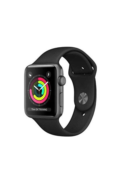 Apple Watch Seri 3 42mm Uzay Grisi Alüminyum Kasa ve Siyah Spor Kordon -MTF32TU