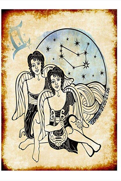 Tablomega Ikizler Burcu Art Mdf Poster 35cm X 50cm