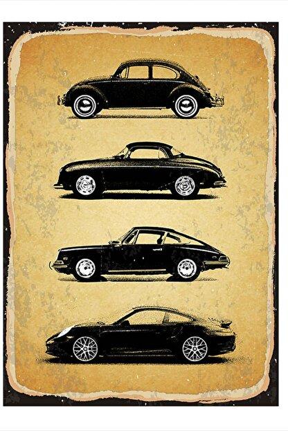 Tablomega Siyah Arabalar Mdf Poster 25cm X 35cm