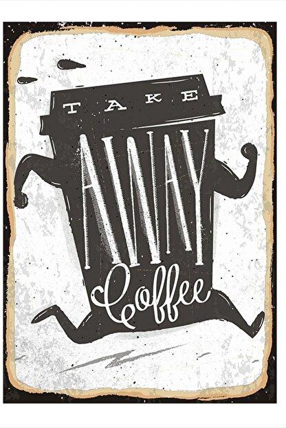 Tablomega Take Away Coffee Tasarım Mdf Tablo 50cm X 70cm