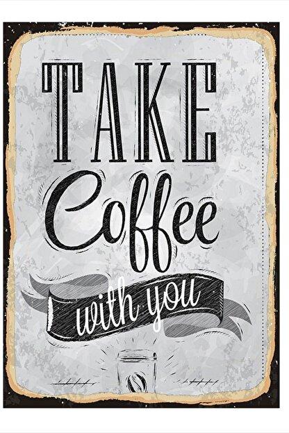 Tablomega Take Coffee Modern Ahşap Tablo 25cm X 35cm