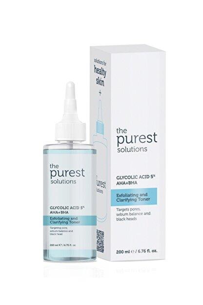 The Purest Solutions Gözenek Sıkılaştırıcı ve Arındırıcı Tonik 200 ML (Glycolic Acid 5% AHA + BHA)