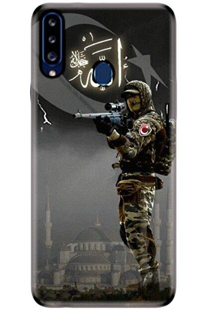 Turkiyecepaksesuar Samsung Galaxy A20s Kılıf Silikon Baskılı Desenli Arka Kapak