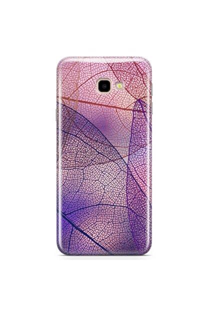 Zipax Samsung Galaxy J4 Plus Kılıf Ince Yaprak Desenli Baskılı Silikon Kilif - Mel-105206
