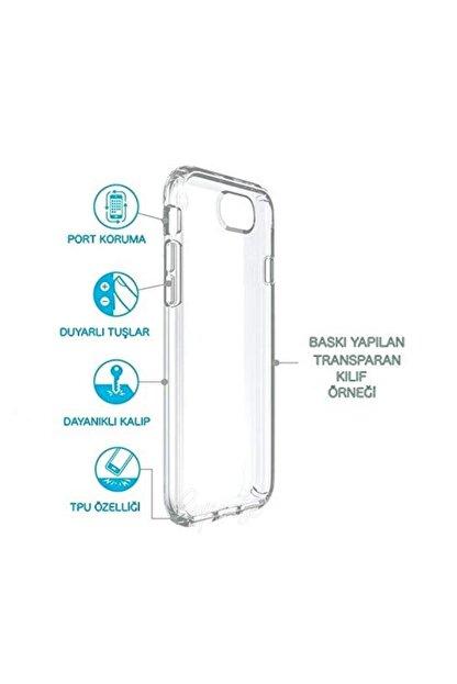cupcase Huawei Honor 8c Kılıf Resim Esnek Silikon Kapak Anahtar Desen + Temperli Cam