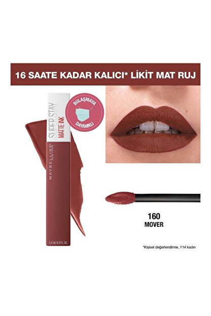Maybelline Super Stay Matte Ink Pink Edition Likit Mat Ruj 160 Mover 3600531605643