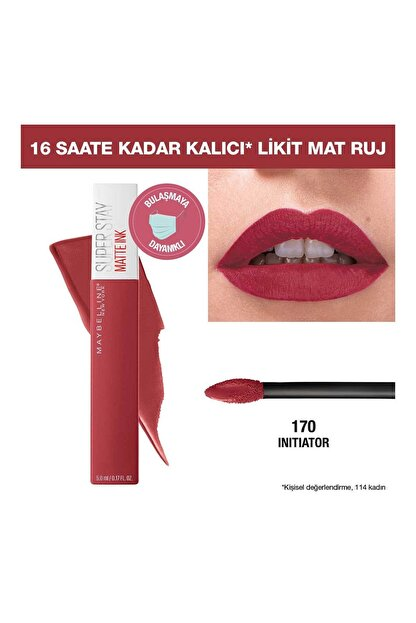 Maybelline Super Stay Matte Ink Pink Edition Likit Mat Ruj 170 Initiator 3600531605667