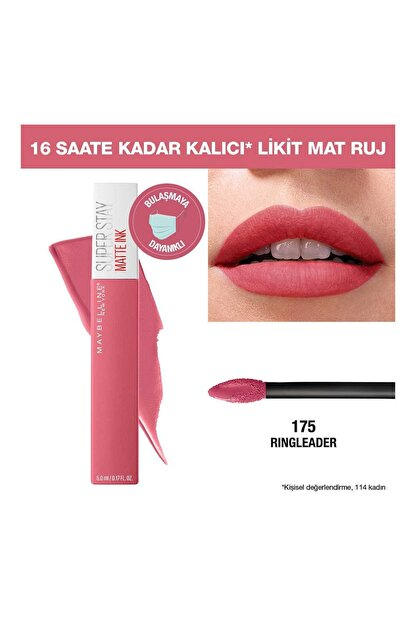 Maybelline Super Stay Matte Ink Pink Edition Likit Mat Ruj 175 Ringleader 3600531605674