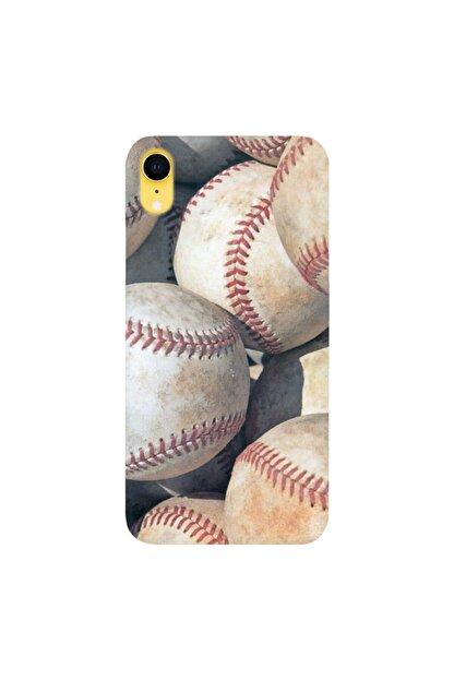 cupcase Iphone Xr 6.1 Inc Kılıf Hd Esnek Silikon Koruma Baseball Vip Kapak + Nano Cam