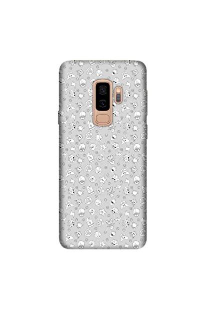cupcase Samsung Galaxy J8 Kılıf Hd Silikon Koruma Heyoo Kapak + Nano Cam