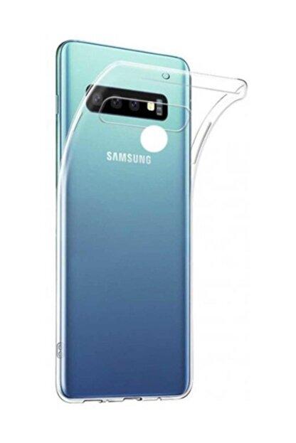 Telefon Aksesuarları Galaxy S10 Plus Toz Koruma Tıpalı Ultra Ince Şeffaf Silikon Kılıf