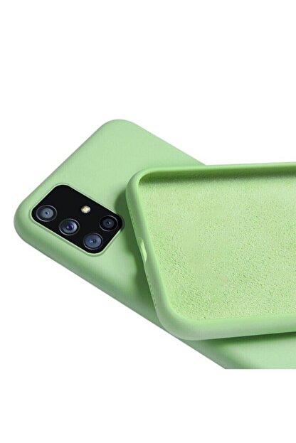 FlueTech Samsung Galaxy M51  uyumlu  Yeşil Renk Kadife Tabanlı Nicelans Kılıf