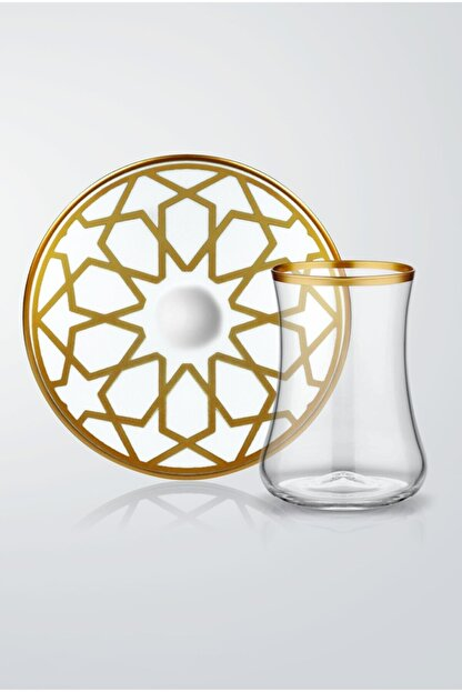 Koleksiyon Ev ve Mobilya 6lı Dervish Çay Seti Yıldız