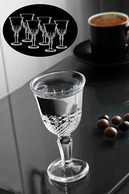 Planet X 6'lı Ayaklı Kristal Kesme Kahve Yanı Bardak Seti Lsf80-arzn