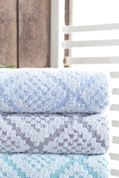 Riva 3d Carpet Jakarlı %100 Pamuk 4 Lü El Ve Yüz Havlu Seti