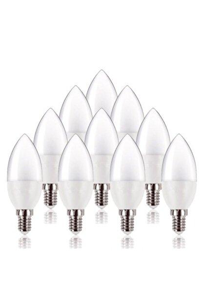 PROICH 7 Watt E14 Ince Duy Beyaz Işık Buji Led Ampul Tasarruflu 10 Lu Paket