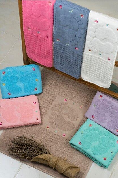 MaLana Havlu Baskılı Ayak Havlusu 5 Adet Karışık Renk