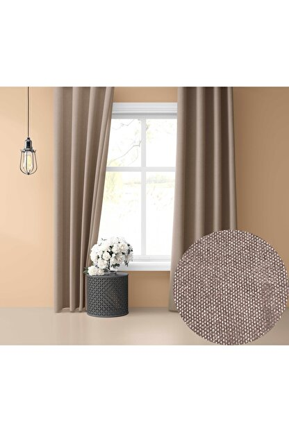 Perle Home Daily Series Country Pembe Fon Perde 150x260