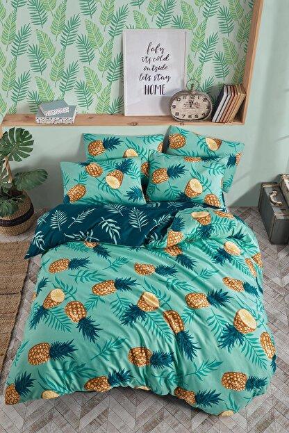 Fushia Pineapple %100 Pamuk Tek Kişilik Nevresim Takımı