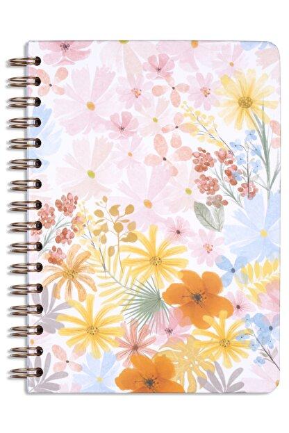 Matt Notebook A5 Süresiz Planlayıcı Ajanda Pembe Çiçekler