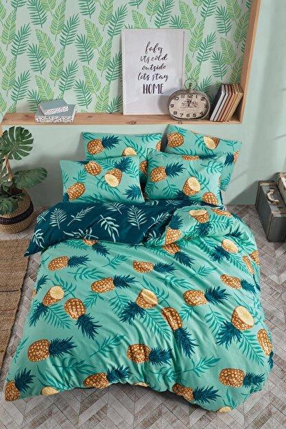 Fushia Pineapple Çift Kişilik Nevresim Takımı