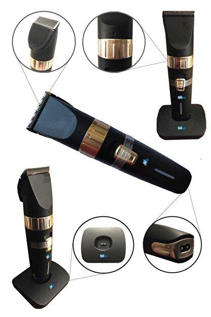 İŞTEBUKACMAZ Profesyonel Berber Şarjlı Standlı Kablosuz Seramik Bıçak Saç Ve Sakal Makinesi Pd4500