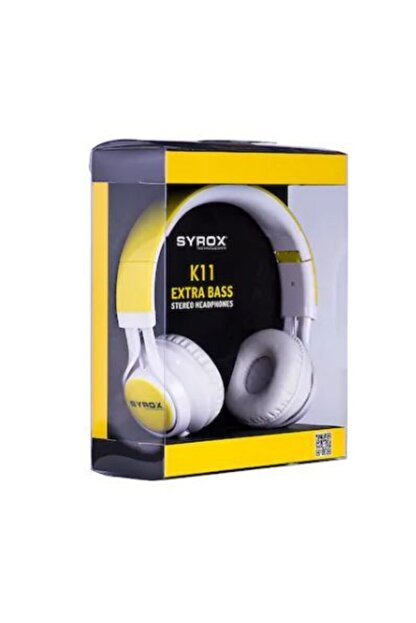 Syrox Xx-47 Sarı K11 Mikrofonlu Stereo Kablolu Kulak Üstü Kulaklık Sarı