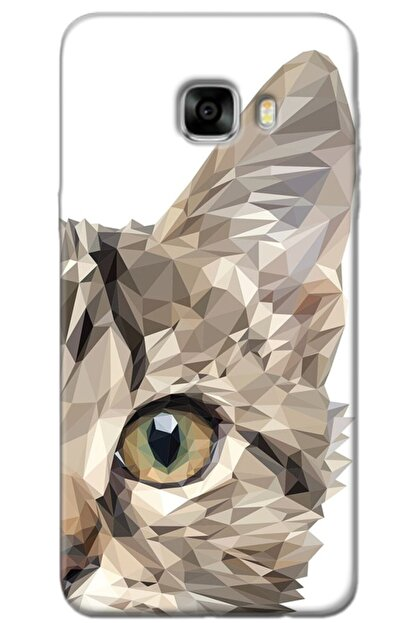 Turkiyecepaksesuar Samsung Galaxy C5 Kılıf Silikon Baskılı Desenli Arka Kapak