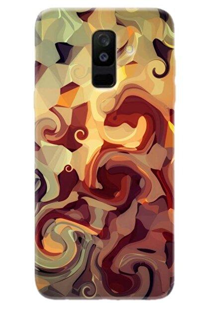 Turkiyecepaksesuar Samsung Galaxy A8 Plus 2018 Kılıf Silikon Baskılı Desenli Arka Kapak