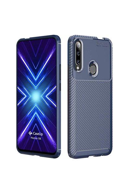 CaseUp Huawei Honor 9x Kılıf, Fiber Design Lacivert