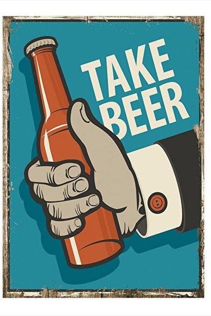 Tablomega Take Beer Tasarım Mdf Tablo 25cm X 35cm