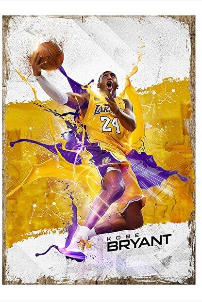 Tablomega Kobe Bryant Desenli Mdf Tablo 35cm X 50cm