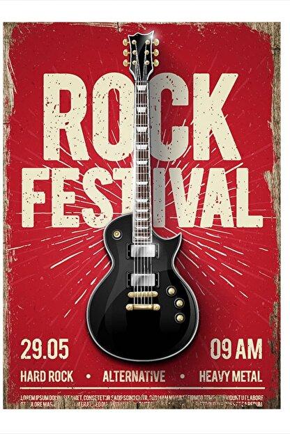 Tablomega Rock Festivali Tasarım Mdf Tablo 35cm X 50cm