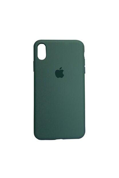 Mopal Apple Iphone Xs Max Logolu Iç Yüzeyi Kadife Altı Kapalı 360° Tam Koruma Silikon Lansman Kılıf