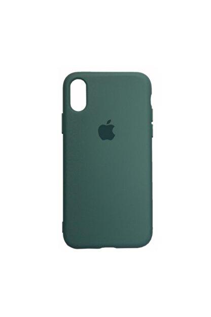 Mopal Apple Iphone X/xs Logolu Iç Yüzeyi Kadife Altı Kapalı 360° Tam Koruma Silikon Lansman Kılıf