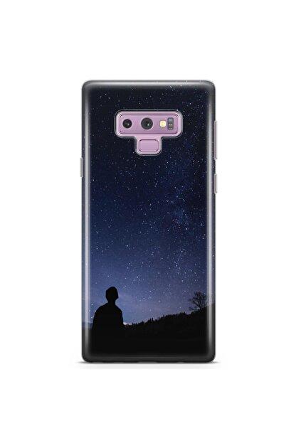 Zipax Samsung Galaxy Note 9 Kılıf Karanlık Gece Desenli Baskılı Silikon Kilif - Mel-106048