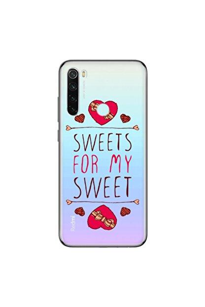 cupcase Xiaomi Redmi Note 8 Kılıf Silikon Kapak For Sweet Desen + Temperli Cam