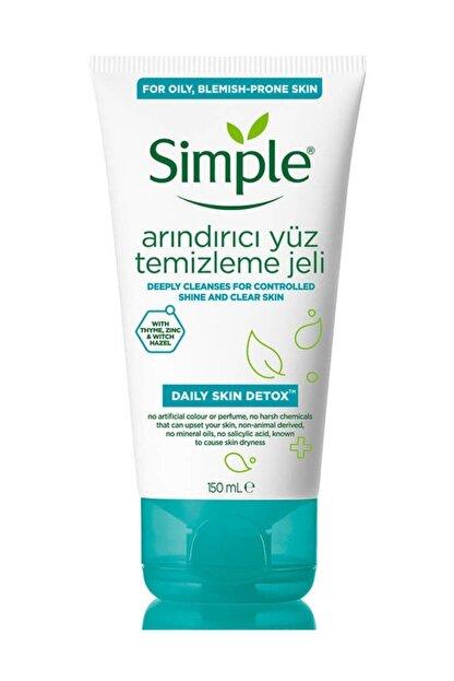 Simple Daily Skin Detox Yağlı/Karma Ciltler İçin Arındırıcı Yüz Temizleme Jeli 150 ml