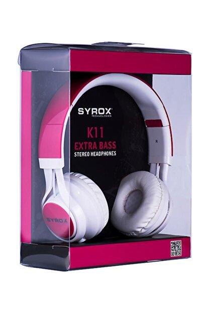 Syrox Mikrofonlu Stereo Kablolu Kulak Üstü Kulaklık