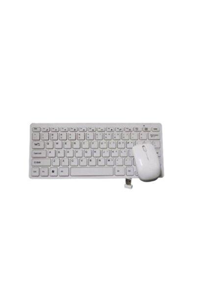 Teknoloji Gelsin Kablosuz Klavye Mouse Seti Mini Wireless Smart Tv Ve Pc Uyumlu Q Klavye Beyaz