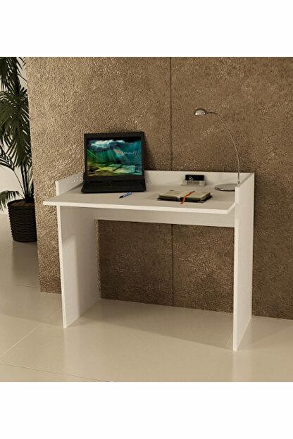 Sanal Mobilya Beyaz Sirius Çalışma Masası 93 Cm