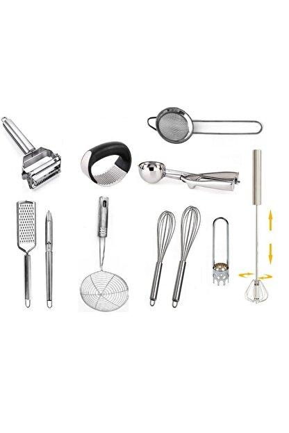 AYBABA STORE Çelik Çeyizlik Pratik Mutfak Hazırlık Seti 11 Parça