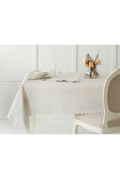 English Home Daina Polyester Masa Örtüsü 150x200 Cm Taş Rengi