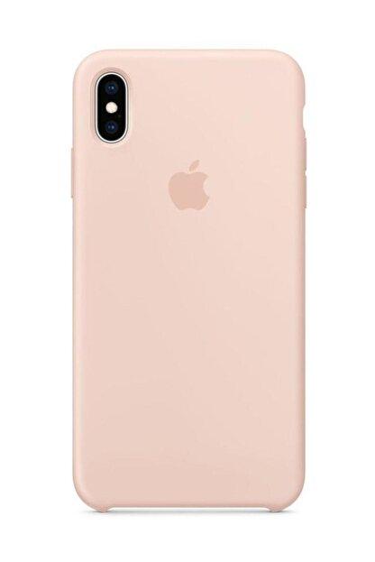 Telefon Aksesuarları iPhone XS Max Silikon Kılıf Kum Pembe